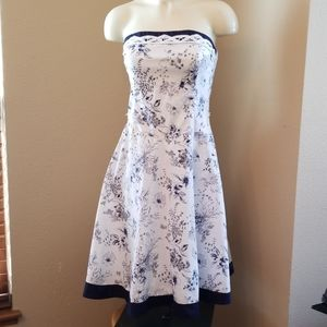 Teeze Me Floral & Butterfly Strapless